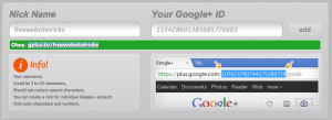 Shorter Custom Google Plus ID